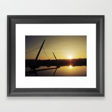 Peace Bridge, Derry  Framed Art Print