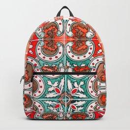 Seamless Floral Pattern Ornamental Tile Design : 7 Backpack