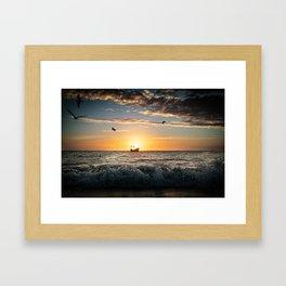 Drama of the Seas Framed Art Print