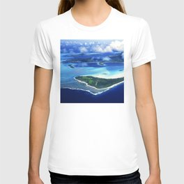 Tropical French Polynesia: View From Open Doors of Helicopter T-shirt