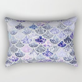 Purple and Ultra Violet Trendy Glitter Mermaid Scales Rectangular Pillow