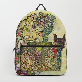 "Gustav Klimt ""Garden Path with Chickens"" Backpack"