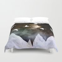 fly Duvet Covers featuring Fly High by Nireth
