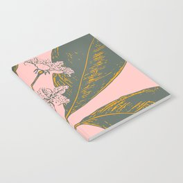 Modern Botanical Banana Leaf Notebook
