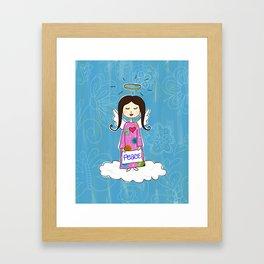 Angel In Doodle Heaven Framed Art Print