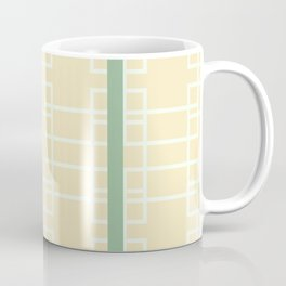 Midcentury Modern Geometric Art Lemon Coffee Mug