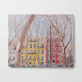 Colourful Street Metal Print