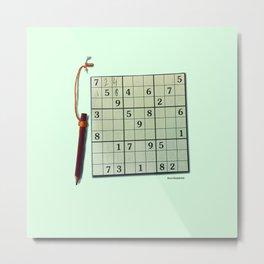 Sudoku 4 U Metal Print