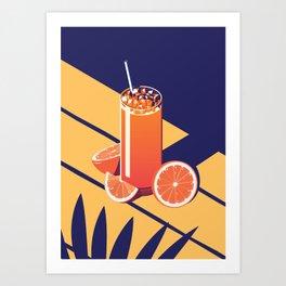 Summer Cocktail Series - Sunrise Art Print