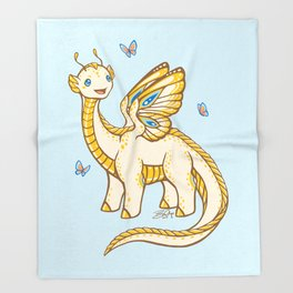 Golden Tipped Dragon Fly Throw Blanket