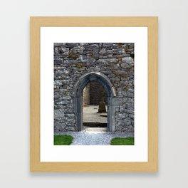 View of Grave Through Door of Irish Ruins v.3 Framed Art Print