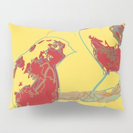 Abstract Sunshine Bird Illustration Pillow Sham