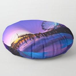 Santa Monica purple sunset Floor Pillow