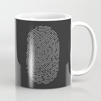wwe Mugs featuring Fingerprint by eARTh