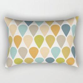 Ice Cream Shapes Mid Century Modern Pattern Rectangular Pillow