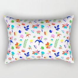 Groovy Prairie Bouquet in White Rectangular Pillow