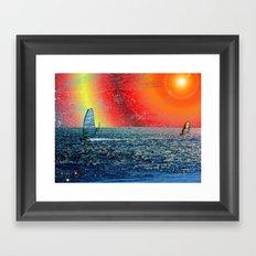 Wind, Surf and Sun Framed Art Print