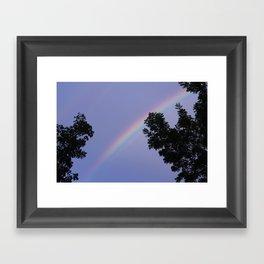 purple rain. Framed Art Print