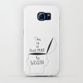 This is a GooD PLACE to bEGIN iPhone Case