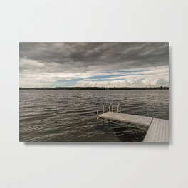 Stormy Sky Over Lake Metal Print