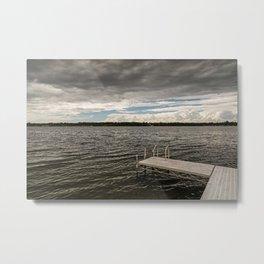 Stormy Sky Over Lake Metal Print