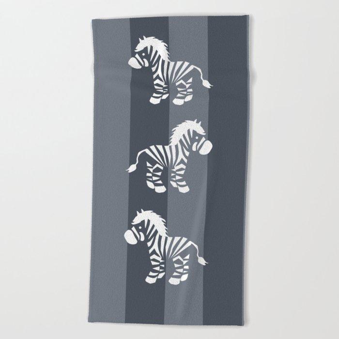 Zebra monochrome Beach Towel