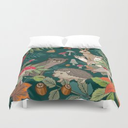 Animals In The Woods Duvet Cover