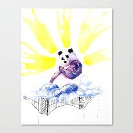 Panic (Panda)monium (Full Color) Canvas Print