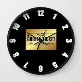Wonka's Golden Ticket Wall Clock