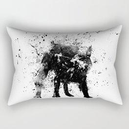 wet dog Rectangular Pillow