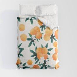 Orange Twist Flower Vibes #6 #tropical #fruit #decor #art #society6 Comforters