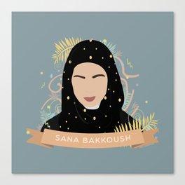 SANA BAKKOUSH Canvas Print