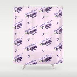 Lavender Fresh Pattern (powder pink) Shower Curtain