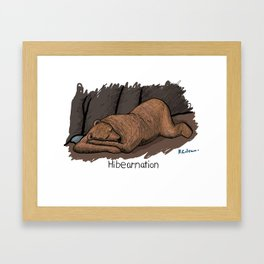 Hibearnation Framed Art Print