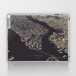 Manhatten city map II Laptop & iPad Skin