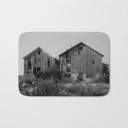 Abandoned Barns (Black & White Photography) Bath Mat