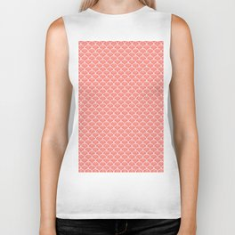 Small peach echo scallops with fractal texture Biker Tank