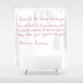 Marcus Aurelius Quote Shower Curtain
