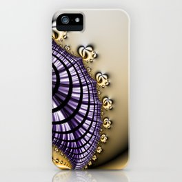 Purple and Gold Abstract Design iPhone Case