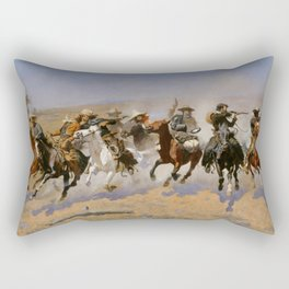 "Frederic Remington Western Art ""Dash For The Timber"" Rectangular Pillow"