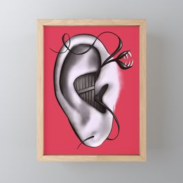 Ear Monster Weird Art Framed Mini Art Print