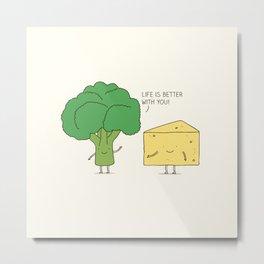 Broccoli and cheese Metal Print