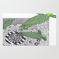 turtles Area & Throw Rugs featuring Turtles by Kandus Johnson