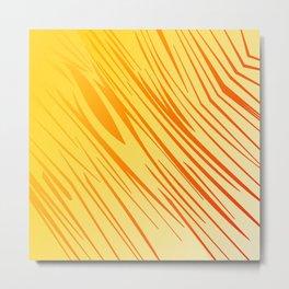 wild gold design lines elements Metal Print
