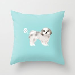 shih tzu funny farting dog breed pure breed pet gifts Throw Pillow