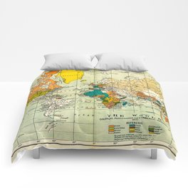 Map of the old world Comforters