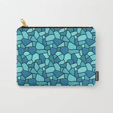 Stained Glass Blue Carry-All Pouch