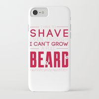 beard iPhone & iPod Cases featuring Beard by PaulWorm