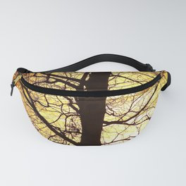 Tree Silhouette At Sunset #decor #society6 Fanny Pack