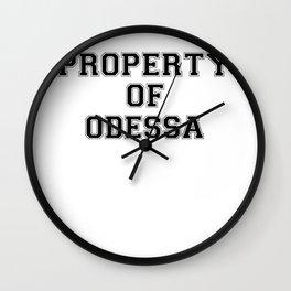 Property of ODESSA Wall Clock